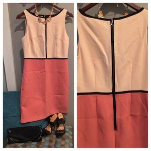 Loft color block dress size 4